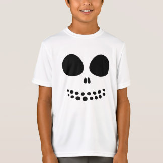 Black Skull Face Boys' Shirt