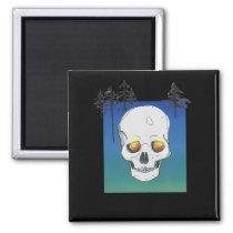 Black Skull Forest Ghost Demon | Kitchen Magnet