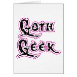 Black Skull Goth Geek Greeting Card