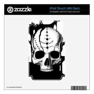 Black Skull iPod Touch 4G Skin