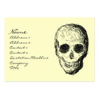 Black Skull. Large Business Card