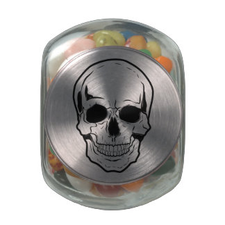 Black Skull Laughter Jelly Belly Candy Jars