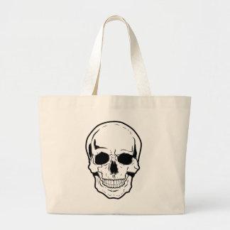 Black Skull Laughter Large Tote Bag