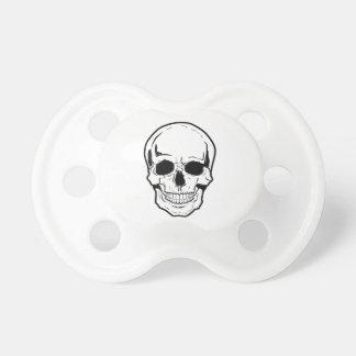 Black Skull Laughter Pacifier