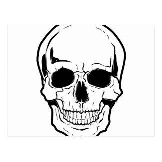 Black Skull Laughter Postcard