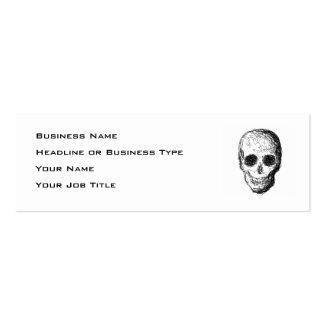 Black Skull. Mini Business Card