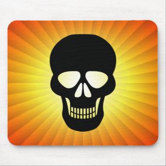 Black Skull Mouse Pad
