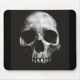 BLACK SKULL MOUSE PAD