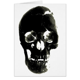 Black Skull - Negative Image Card
