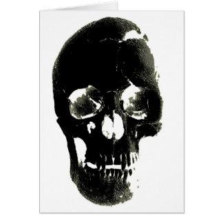 Black Skull - Negative Image Greeting Cards