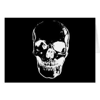 Black Skull - Negative Image Card