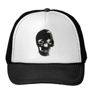 Black Skull - Negative Image Trucker Hat