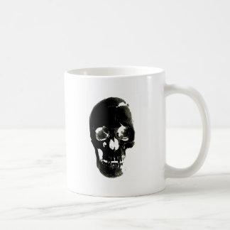 Black Skull - Negative Image Mug