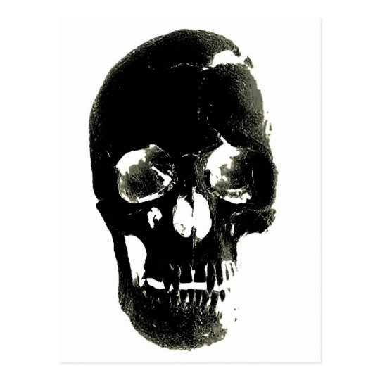 Black Skull - Negative Image Postcard