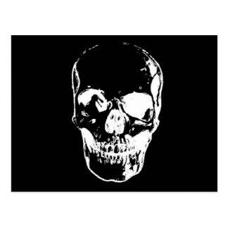 Black Skull - Negative Image Postcard