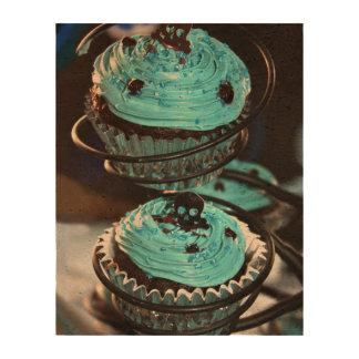 Black Skull on Blue Icing Cupcakes Cork Paper Prints