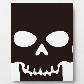 Black Skull Plaque