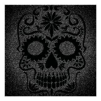 Black Skull Poster