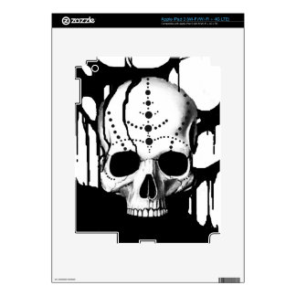 Black Skull Skin For iPad 3
