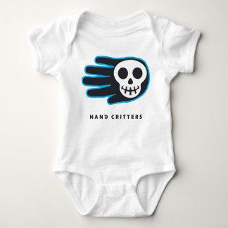 Black Skull Smile Baby Bodysuit