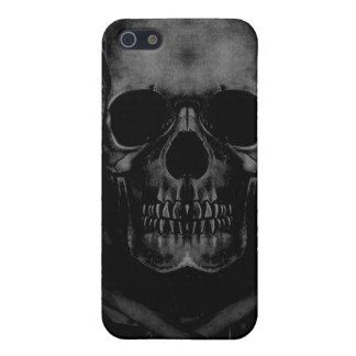 Black Skull Speck Fitted Fabric-Inlaid Hard Shell  iPhone 5 Case