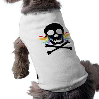 Black Skull Tears Dog Shirts