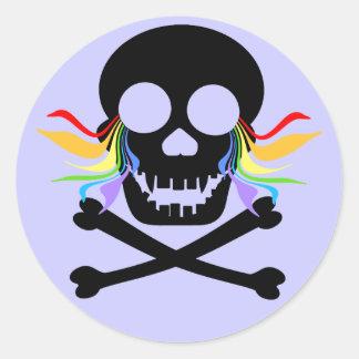 Black Skull Tears Stickers