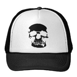 BLACK SKULL TSHIRT MESH HATS