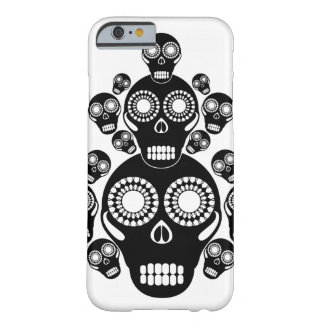 Black Skulls White Barely There iPhone 6 Case