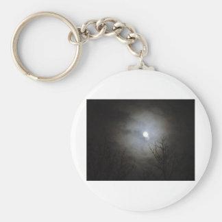 black sky bright moon keychain
