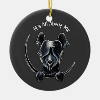 Black Skye Terrier IAAM Bold Ceramic Ornament