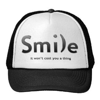 Black Smile Ascii Text Hat