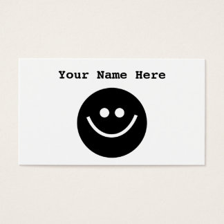 Black Smilie Business Card