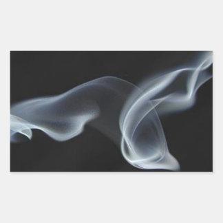 Black Smoke Rectangular Sticker