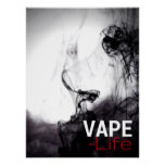 Black Smoke Vape Life Premium Posters at Zazzle