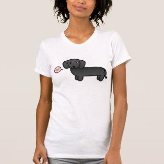 Black Smooth Coat Dachshund Love T-shirt