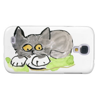 Black Snail and Tiny Gray Kitten Samsung S4 Case