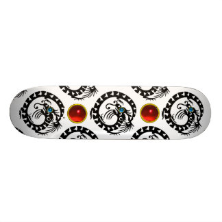 BLACK SNAKE  DRAGON ,Red Ruby Gemstones Skate Decks