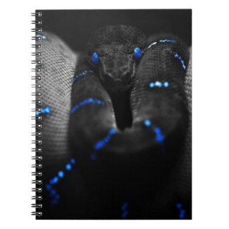 black snake spiral note book