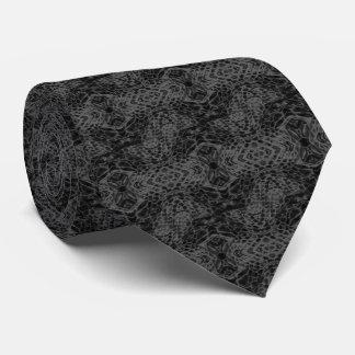 Black Snake Skin Tie