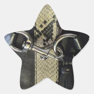 Black Snakeskin image of Clasp I m Hooked On You Star Sticker