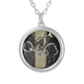 """Black Snakeskin image of Clasp """"I'm Hooked On You! Personalized Necklace"""