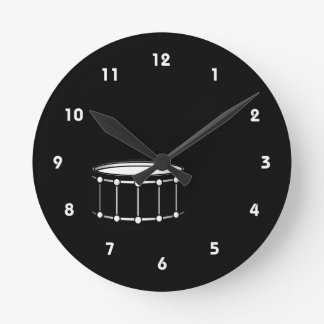 black snare graphic with sticks.png round clock