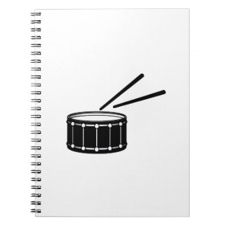 black snare graphic with sticks.png spiral notebook