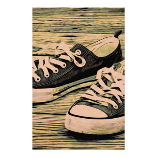 Black sneakers stationery