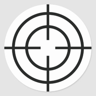 black sniper  crosslines icon classic round sticker