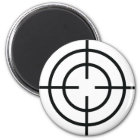 black sniper  crosslines icon magnet