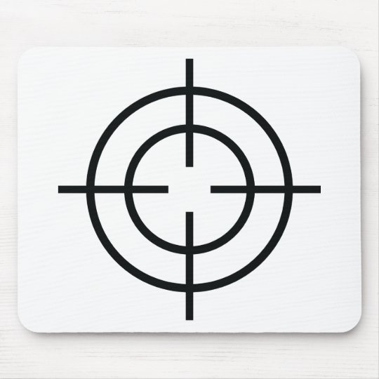 black sniper  crosslines icon mouse pad