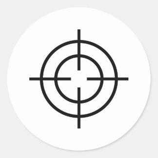 black sniper  crosslines icon sticker