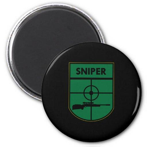 Black Sniper Patch 2 Inch Round Magnet